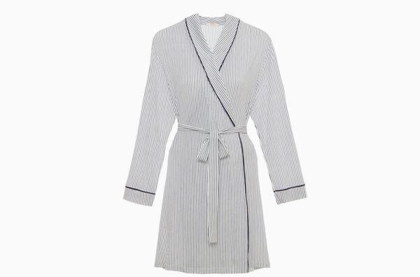 Eberjey Nordic Stripes Tuxedo Robe