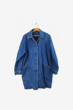 90s Eddie Bauer Long Vintage Blue Jean Jacket