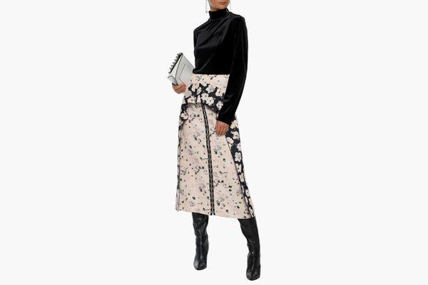 Proenza Schouler Ruffled Floral Midi Skirt
