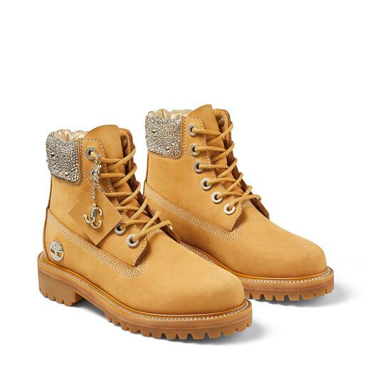Jimmy Choo x Timberland Boots With Crystal Collar