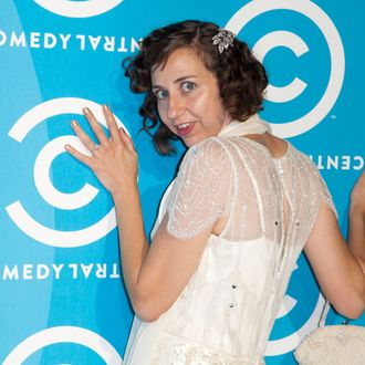 LOS ANGELES, CA - SEPTEMBER 23: Actress Kristen Schaal attends the 2012 Primetime Emmy Awards Comedy Central Party at Cecconi's Restaurant on September 23, 2012 in Los Angeles, California. (Photo by Imeh Akpanudosen/Getty Images)