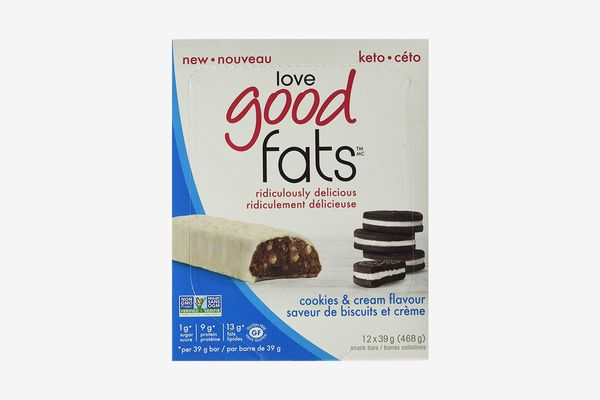 Love Good Fats Bars, Cookies & Cream - Box of 12