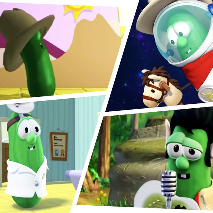 Larry the Cucumber in various Silly Songs.