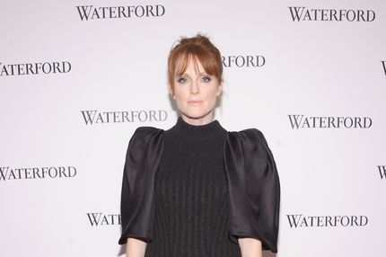"NEW YORK, NY - DECEMBER 08:  Actress Julianne Moore attends unveiling of Waterford Premier Interiors Collection at ""Live a Crystal Life"" at Center 548 on December 8, 2011 in New York City.  (Photo by Michael Loccisano/Getty Images for Waterford)"
