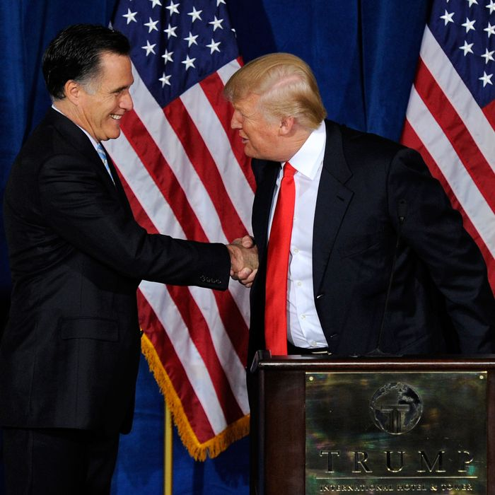 Mitt Romney And Donald Trump Battle For Handshake Supremacy