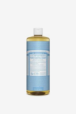 Dr. Bronner's 18-in-1 Hemp Baby Pure-Castile Soap, Unscented, 32 fl. oz.