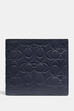 coach black leather double billfold - strategist coach bags half off