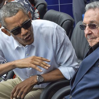 CUBA-US-OBAMA-CASTRO-BASEBALL