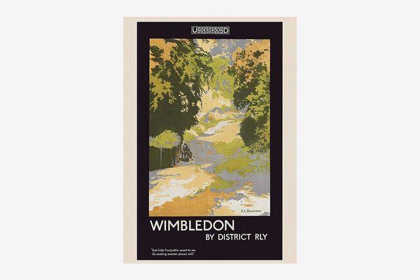 London Underground Wimbledon poster