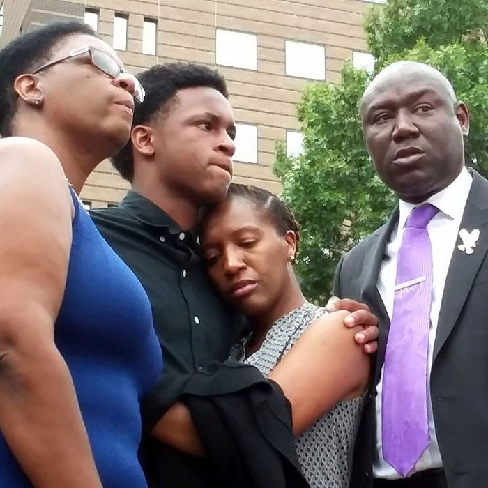 Family of the victim, 26-year-old Botham Jean.