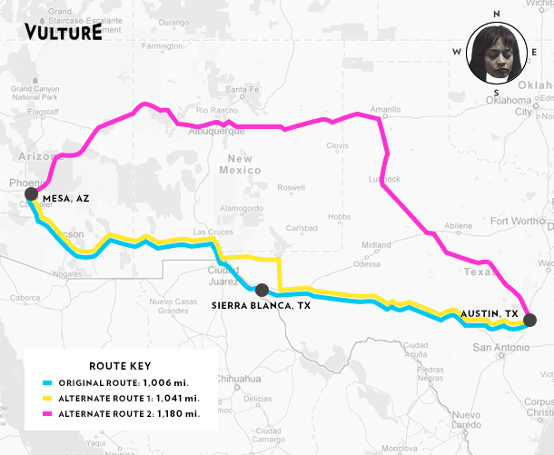 Admittedly Those Routes Are Longer By 50 And 170 Miles Almost And That Distance Might Seem Like A Non Starter For Touring Musicians Who Need To Get