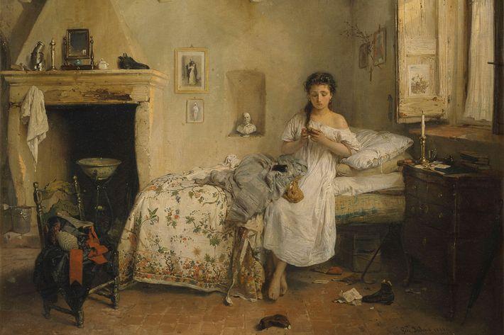 """Sad Presentiment,"" by Girolamo Induno"