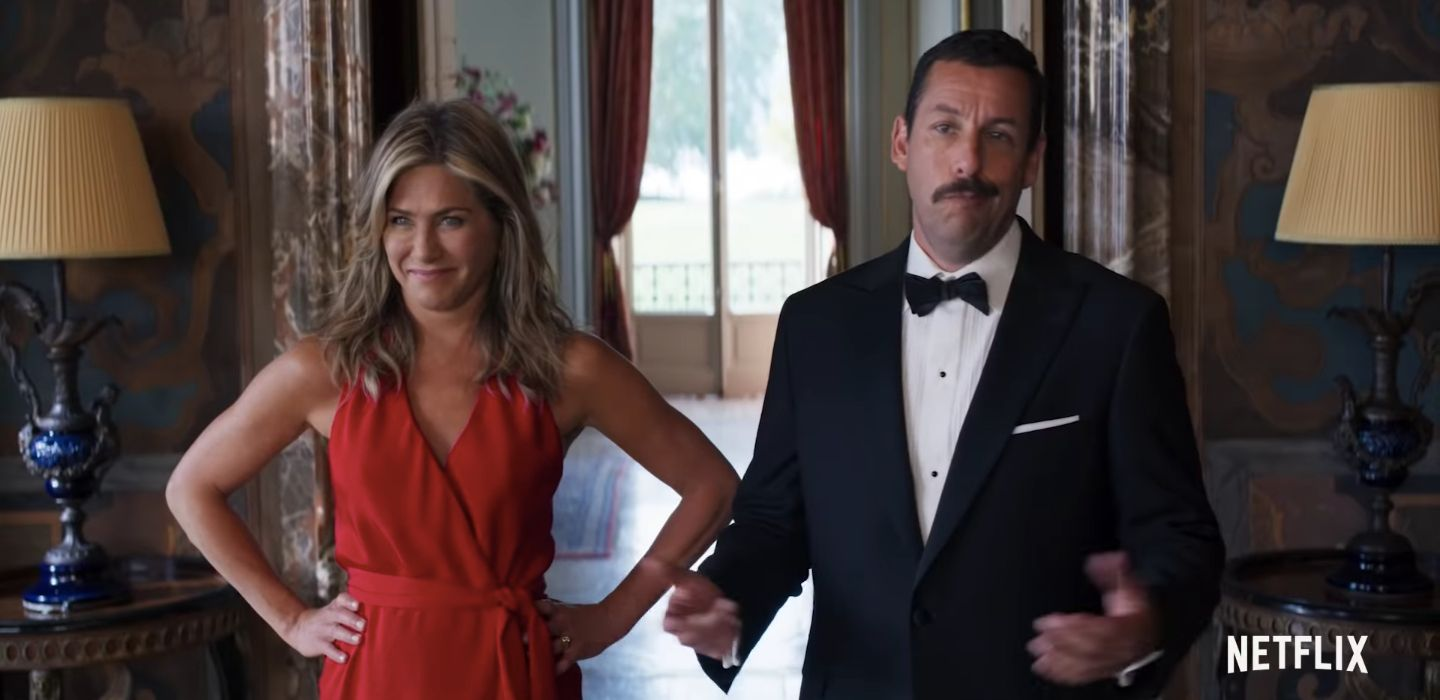 Adam Sandler, Jennifer Aniston Can't Have a Vacay In Peace Now That Murder Mystery 2 Is In the Works