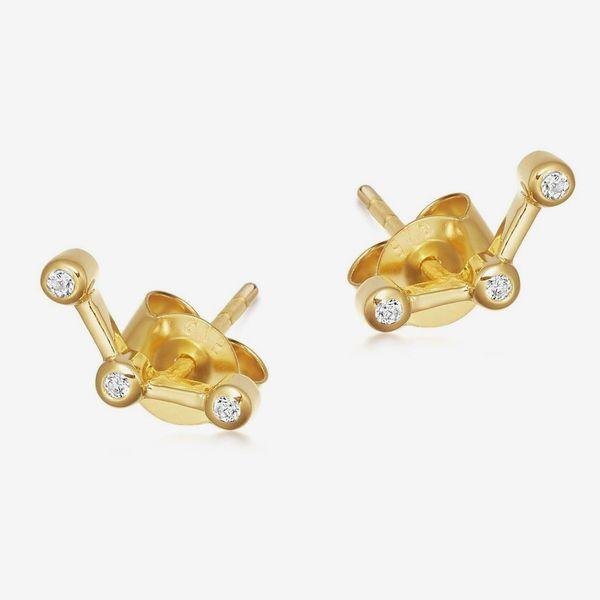 Missoma Pave Trilogy Stud Earrings