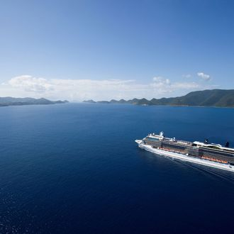 Aerial Celebrity Solstice in the Virgin Islands