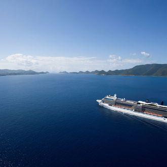 Aerial Celebrity Solstice in the Virgin IslandsCelebrity Solstice - Celebrity Cruises