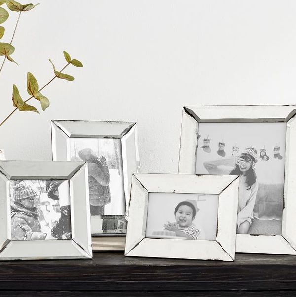 Pottery Barn Antiqued Mirrored Picture Frame