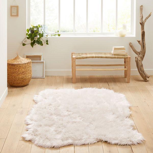 Livio Large Faux Sheepskin Rug