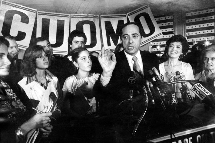 UNITED STATES - SEPTEMBER 19: Mario Cuomo, with wife and daughter, thanks supporters as he concedes defeat in the runoff primary at Tavern on the Green. (Photo by Bill Stahl Jr./NY Daily News Archive via Getty Images)