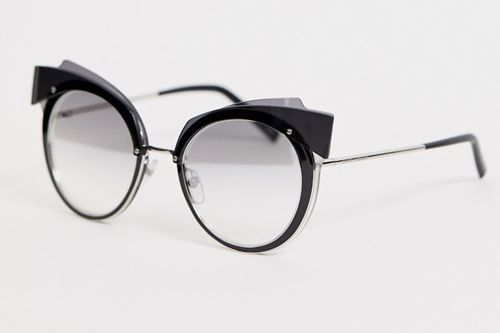 Marc Jacobs Cat Eye Sunglasses in Black and Silver