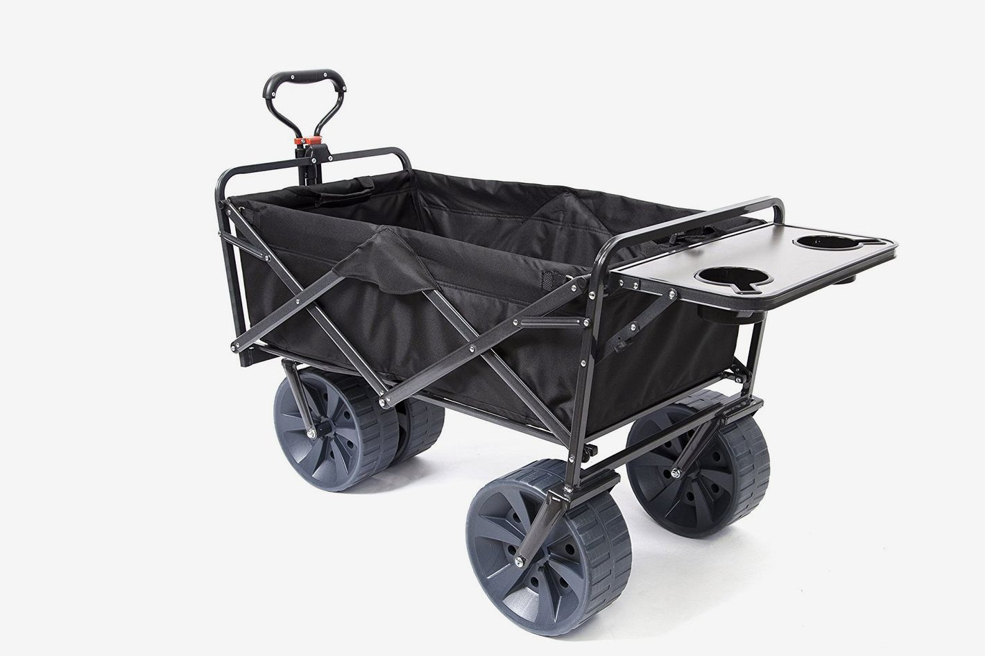Mac Sports Heavy Duty Collapsible Folding All Terrain Utility Wagon Beach Cart With Table