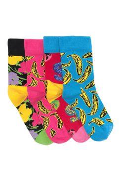 Happy Socks Andy Warhol Boxed Socks, Pack of 4
