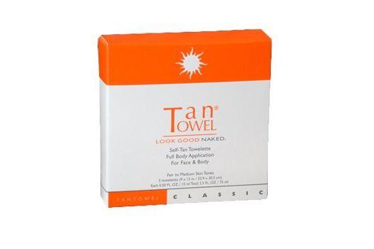 Tantowel Total Body Self-Tan Towelette (Package of 5)