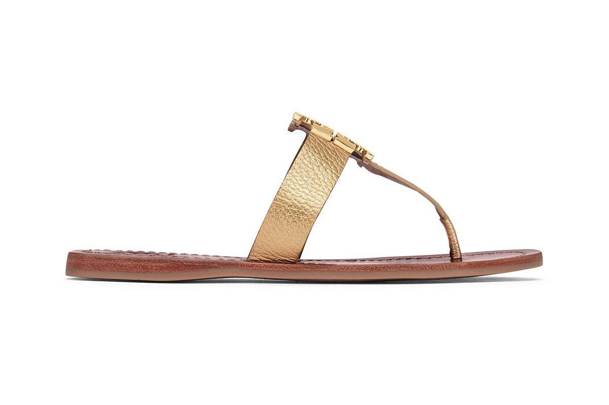 Moore Metallic Thong Sandal