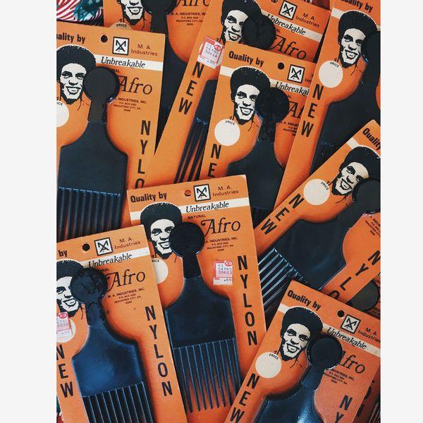 Vintage 1970'S Afro Pick In Original Packaging