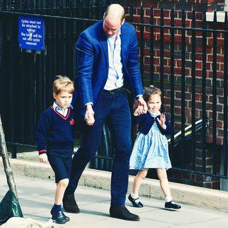 Prince George, Prince William, and Princess Charlotte.
