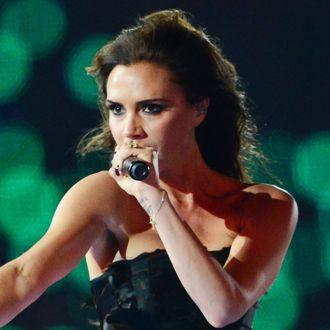 Spice Girls' Victoria Beckham performs d
