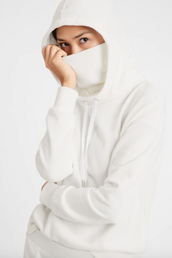 Banana Republic French-Terry Face-Shield Hoodie