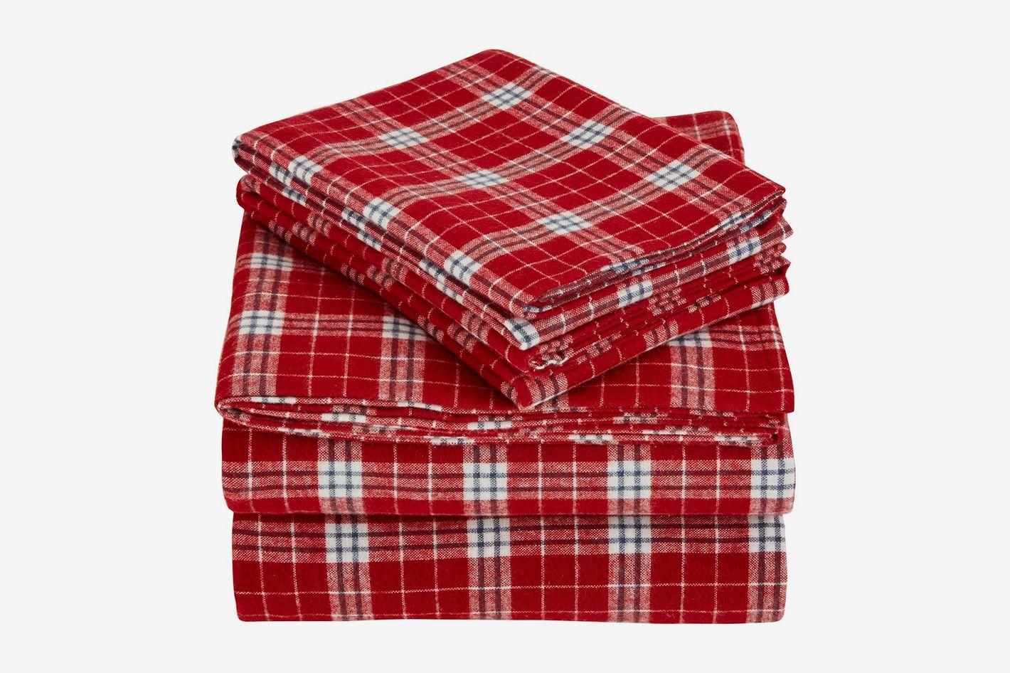 Pinzon 160 Gram Plaid Flannel Sheet Set (Queen)