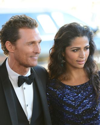 LOS ANGELES, CA - JUNE 24: Actor Matthew McConaughey and wife Camila McConaughey arrive at the closing night gala premiere of 'Magic Mike' at the 2012 Los Angeles Film Festiva held at Regal Cinemas L.A. Live on June 24, 2012 in Los Angeles, California. (Photo by Jason Merritt/Getty Images)