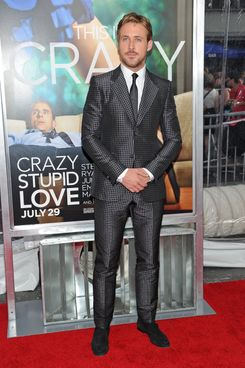 "NEW YORK, NY - JULY 19:  Actor Ryan Gosling attends the ""Crazy, Stupid, Love."" World Premiere at the Ziegfeld Theater on July 19, 2011 in New York City.  (Photo by Jason Kempin/Getty Images)"