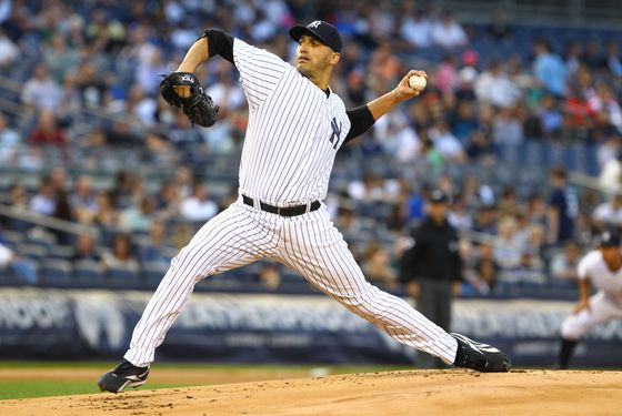 Andy Pettitte #46 of the New York Yankees in action against the Kansas City Royals on May 23, 2012 at Yankee Stadium in the Bronx borough of New York City.