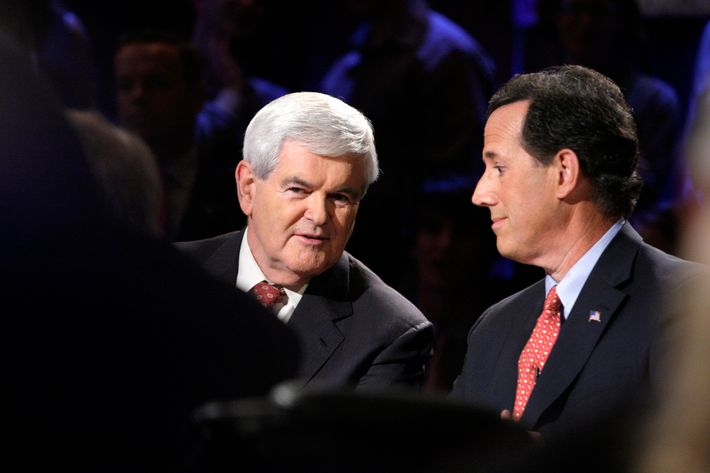Newt Gingrich and Rick Santorum.