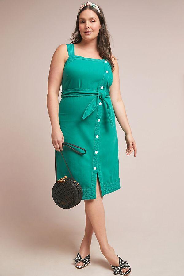 Maeve Elizabeth Button-Front Dress