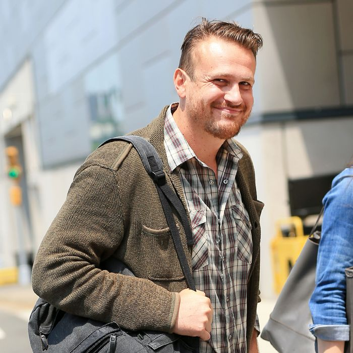 Jason Segel arrives at the Javitz Center in NYC