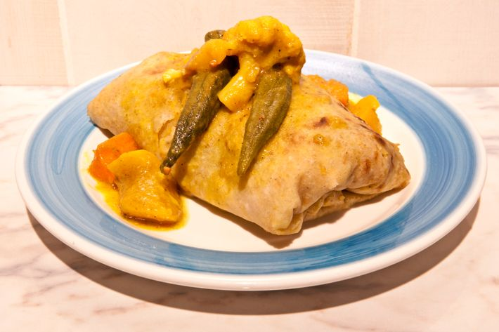 The vegetable roti.