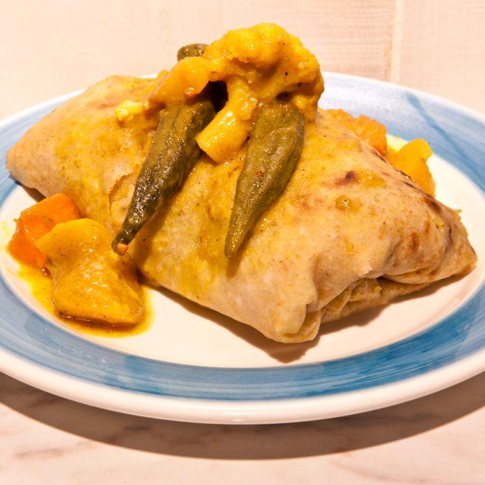 The vegetable roti.