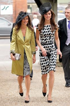 LAMBOURN, UNITED KINGDOM - JUNE 11: (EMBARGOED FOR PUBLICATION IN UK NEWSPAPERS UNTIL 48 HOURS AFTER CREATE DATE AND TIME) Pippa Middleton and Catherine Duchess of Cambridge attend the wedding of Sam Waley-Cohen and Annabel Ballin at St. Michael and All Angels church on June 11, 2011 in Lambourn, England. (Photo by Indigo/Getty Images)