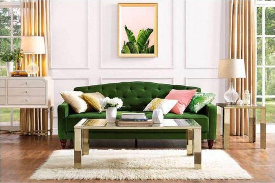 Novogratz Vintage Tufted Sofa Sleeper II, Green