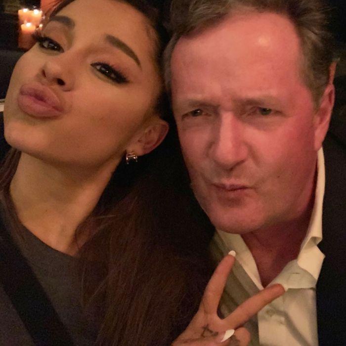 Ariana Grande and Piers Morgan.