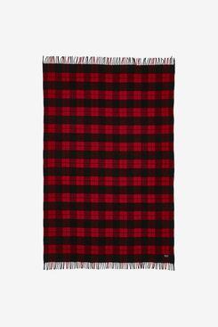 Faribault Woolen Mills Bison Check Throw Blanket
