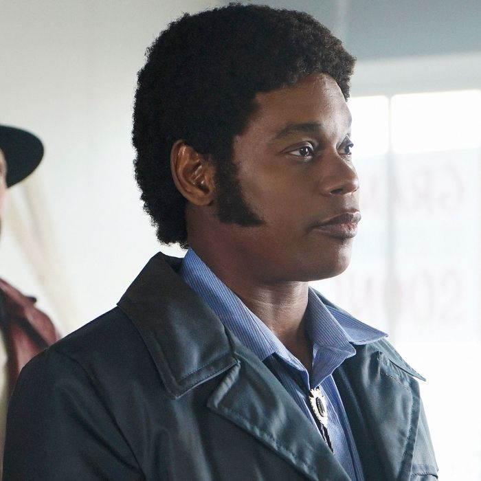 "FARGO -- ""Before The Law"" -- Episode 202 (Airs October 19, 10:00 pm e/p) Pictured: (l-r) Brad Mann as Gale Kitchen, Bokeem Woodbine as Mike Milligan.CR: Chris Large/FX"
