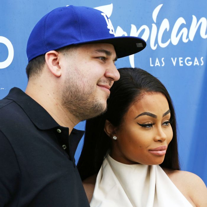 Rob Kardashian and Blac Chyna.