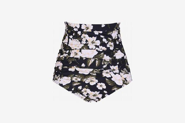 COCOPEAR Women's Ruched High Waisted Bikini Bottom