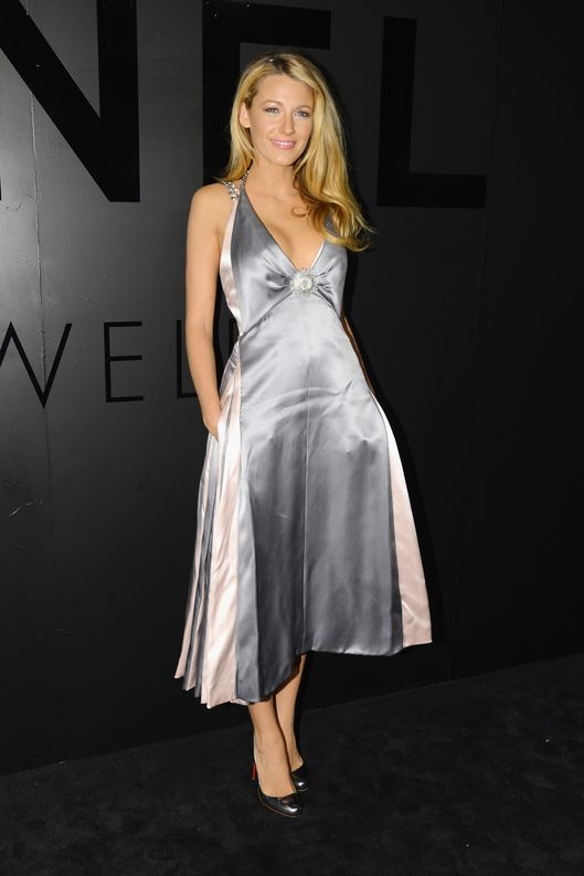 "NEW YORK, NY - OCTOBER 09:  Actress Blake Lively attends the celebration of CHANEL FINE JEWELRY'S  80th anniversary of the ""Bijoux De Diamants"" collection created by Gabrielle Chanel on October 9, 2012 in New York City.  (Photo by Andrew H. Walker/Getty Images for Chanel)"