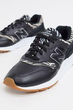 New Balance 997H Animal Print Sneakers, Black